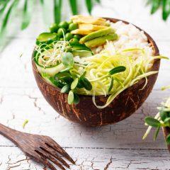 Vegan buddha bowl with vegetables